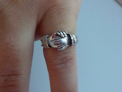 Victorian Silver Fede / Betrothal Ring Metal Detecting Find