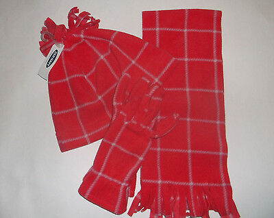 Old Navy girls hat gloves and scarf, NEW with tags, bright pink, size L - XL