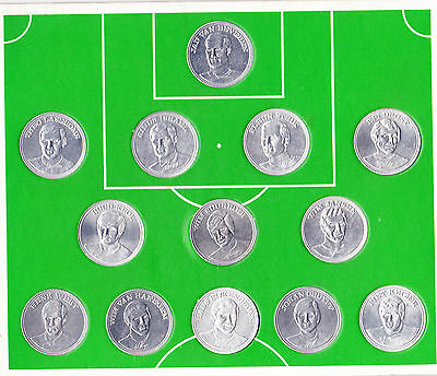 Vintage SHELL FOOTBALL COINS TOKENS including Johan Cruijff 20 pieces!