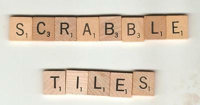 Scrabble game pieces - choose up to 10 replacements wood tiles