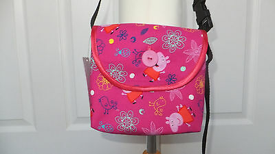 New Hand Crafted Girls Pink Peppa Pig Shoulder Cross Body Bag Christmas Gift