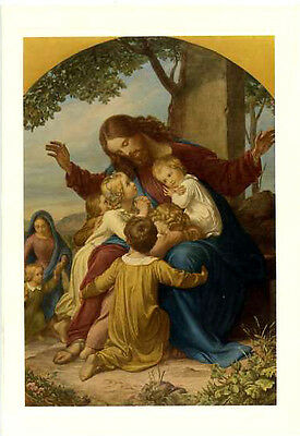 """Jesus and Children """"Come to Me"""" Firenze Galleria Museum Notecard 5x7"""