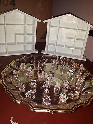 Crystal Ornaments 28 pieces with shelving units Special Christmas Gift