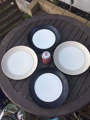 "4 MARKS AND SPENCER M&S BUDE 11"" Dinner Plates"