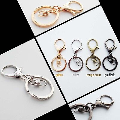 1-5pc Keychain Car Key ring Lobster Clasp Clip Bag Pendant Findings Trigger Hook