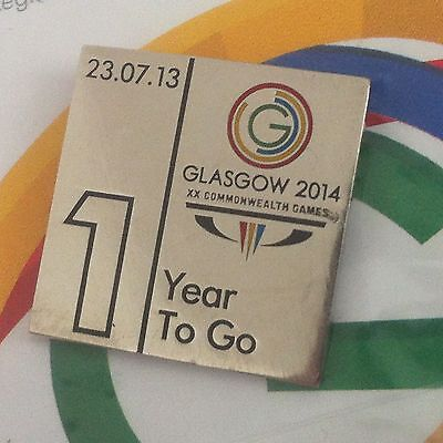 Glasgow 2014 Commonwealth Games - Pin Badge - 1 Year To Go