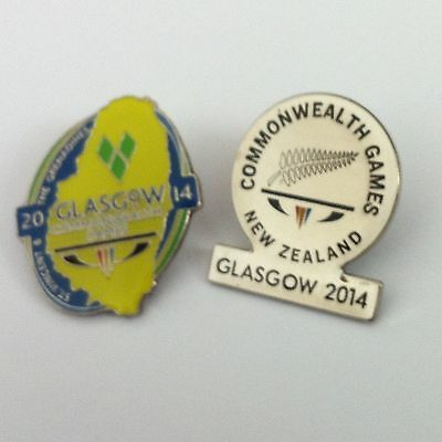 Glasgow 2014 Commonwealth Games - Pin Badge - New Zealand & Saint Vincent