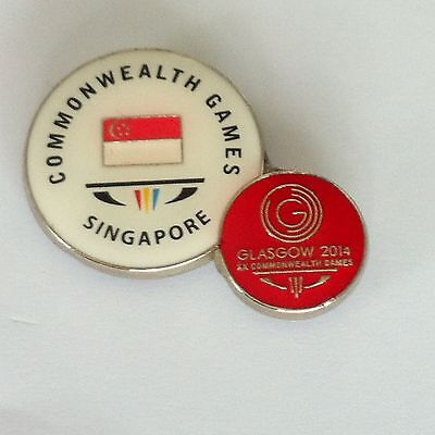Glasgow 2014 Commonwealth Games - Pin Badge - Singapore Dated