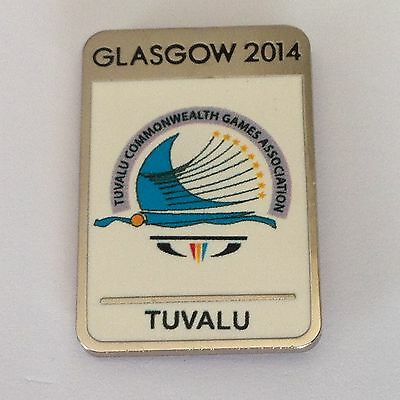 Glasgow 2014 Commonwealth Games - Pin Badge - Tuvalu Dated - Rarest Of All