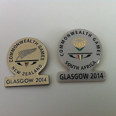 Glasgow 2014 Commonwealth Games - Pin Badge - Team South Africa & New Zealand