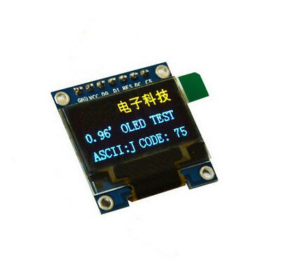 "3-5V 0.96"" SPI Serial 128X64 OLED LED LCD Display Module blue yellow F Arduino M"