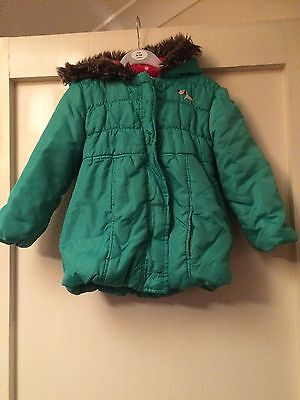 Girls Warm Coat From M&s Age 3-4