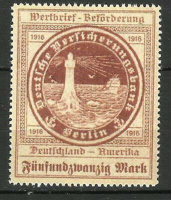 OZEANREEDEREI German stamps for America by submarines U-Boote _ FAKE REPLICA