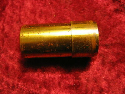 ANTIQUE BAUSCH & LOMB 16mm  BRASS LENS CASE OLD MICROSCOPE TELESCOPE CAMERA PART