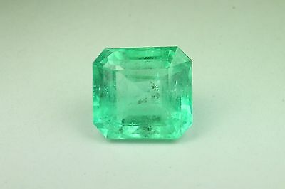 16.26cts Enticing! Green Natural Colombian Emerald cut!
