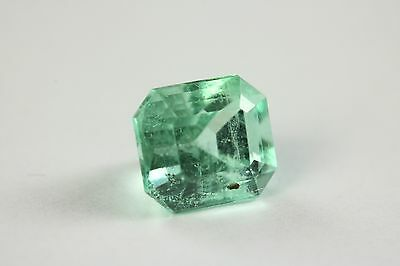 Mint Green 2.03 Carats Translucent Loose Emerald Cut From Muzo