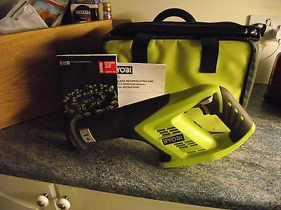 One Plus Reciprocating Saw / Spare Blades / Carry Bag.  Bare Unit
