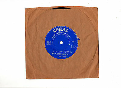 """rare"" Soul ""demo"".jackie Wilson.in The Blue Of The Evening.uk ""b Side"" 7"".vg+"