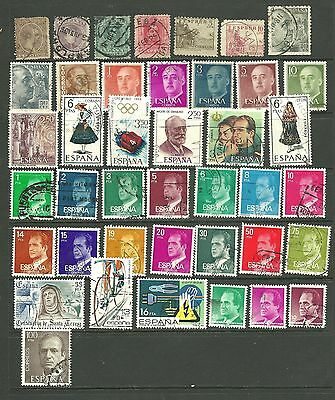 Spain: 1889-1996 A used selection 40+ all different