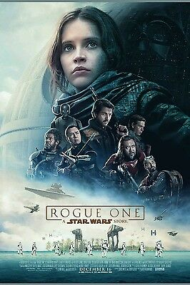 Star Wars Rogue one 27x40 Official DS Theater movie poster! Brand New!