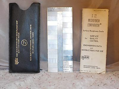 MICROFINISH COMPARATOR S-22 by GAR - Surface Finish Scale