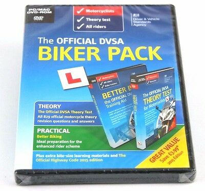The Official DVSA Motorcycle Biker Theory Test  PC MAC DVD-ROM Learner