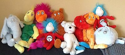 Huge LOT of 10 DR.SEUSS Character PLUSH Toys all from Kohl's Cares for Kids