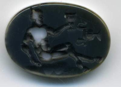 Roman Style Two Layer Agate Signet Intaglio Seal