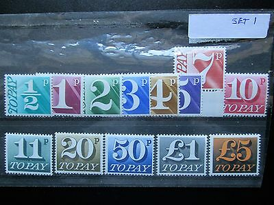 Stamps QE2 Postage Due 1970  Set of 13  Values to £5   MNH