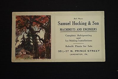 Samuel Hocking & Son Machinists and Engineers Lancaster PA Ink Blotter