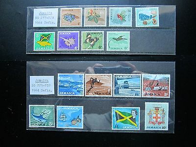 Stamps Jamaica 1964 Definitives Set of 16 to £1   MNH