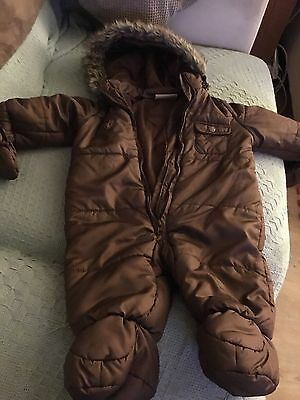 All In One Snowsuit Coat Baby Boy 6-9 Months
