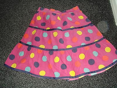 John Lewis Girls bright pink spotty skirt age 7 years excellent cond