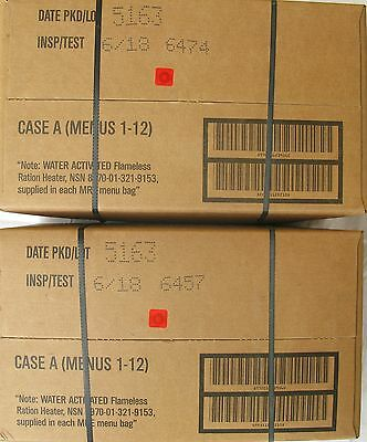 MRE  US rations, meal ready to eat menu  A two boxes