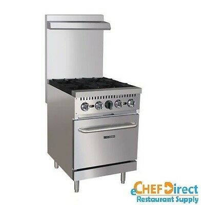 Adcraft Bdgr-24/ng Black Diamond 4 Burner Gas Range With Oven