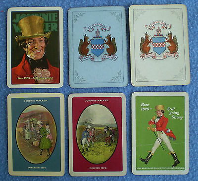 26 x vintage JOHNNIE WALKER SCOTCH WHISKY single playing cards