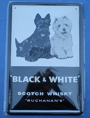 Metal sign &15 x RARE SINGLE BLACK & WHITE SCOTCH WHISKY PLAYING CARDS