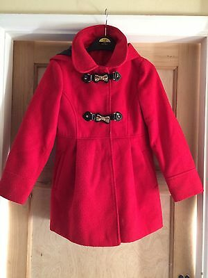 Girls Red Riding Hood Winter Coat Age 7-8 Years