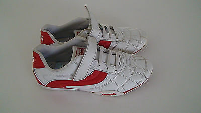 Kids White And Redlonsdale Trainers Size Uk 2 Eur 34