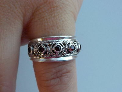 Silver And Garnet Ring Metal Detecting Find