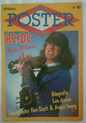 Ac Dc Ac/dc Special New Poster Magazine Very Rare Spain
