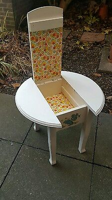 Vintage Wooden Sewing Box Table /storage/side Table