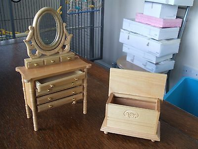 12th SCALE NEW Dolls house Dressing table set