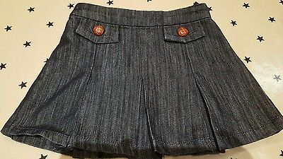 Girls next denim pleated skirt cute age 3