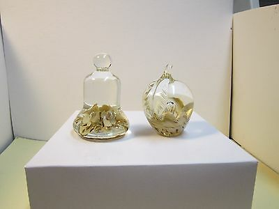 2 Maude and Bob Glass Paperweights,  St. Claire, 1978, 1977