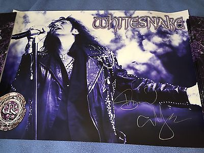 Whitesnake  Vip Package Purple Tour Signed David Coverdale Poster Pass Tote Book