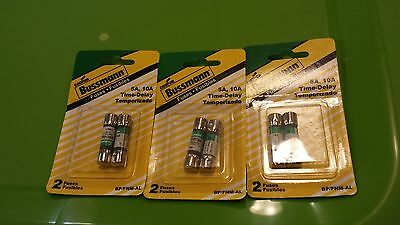 Bussman 5A 10A Fuse Time Delay BP/FNM-AL - BRAND NEW - 3 packages