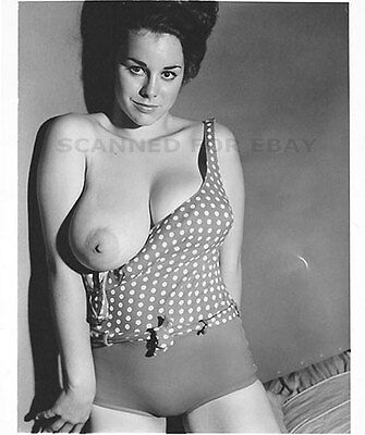 Janey Frawley model female photo sexy nude topless busty woman girl print pic C