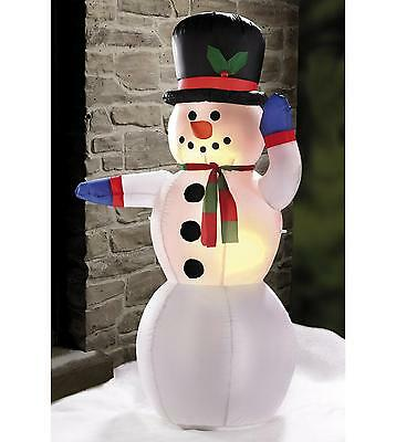 4ft Outdoor Light Up Inflatable Snowman Christmas Tree Decoration Garden