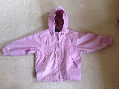 TOG24 Packaway waterproof breathable coat Pink Age 3/4 with packaway bag Ex Con